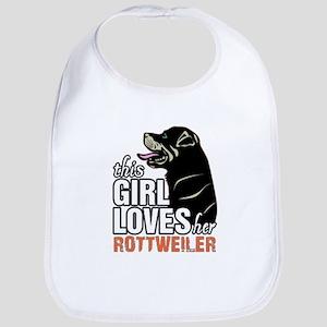 This Girl Loves Her Rottweiler Bib