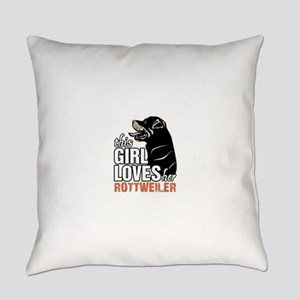This Girl Loves Her Rottweiler Everyday Pillow