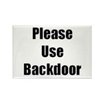 Please Use Backdoor Rectangle Magnet (100 pack)