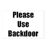 Please Use Backdoor Postcards (Package of 8)