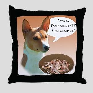 Basenji Turkey Throw Pillow
