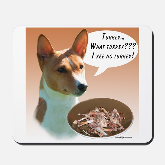 Basenji Turkey Mousepad