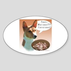 Basenji Turkey Oval Sticker