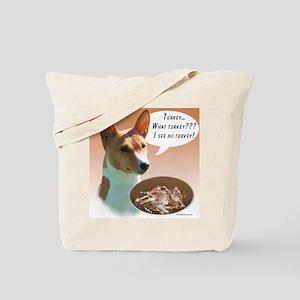 Basenji Turkey Tote Bag