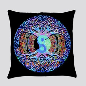 Mandala Yin Yang Harmony Everyday Pillow