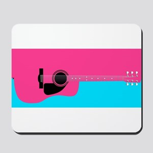 Pink Acoustic Guitar Background Mousepad