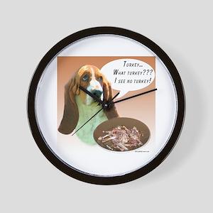 Basset Hound Turkey Wall Clock