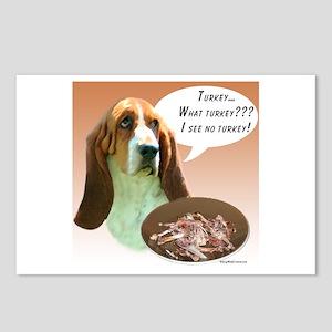 Basset Hound Turkey Postcards (Package of 8)