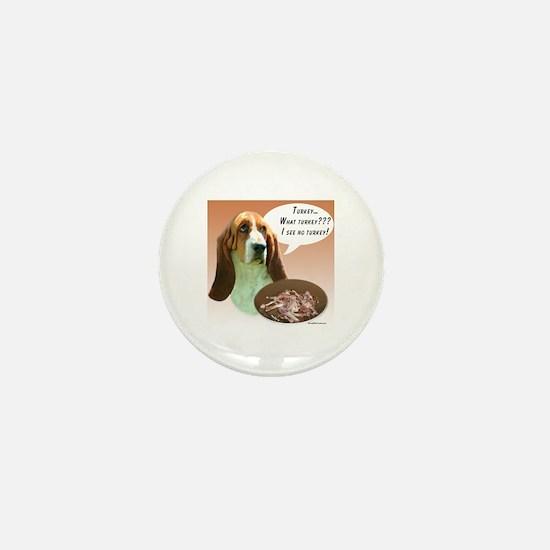 Basset Hound Turkey Mini Button