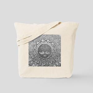 Shiny Metallic Tree of Life Yin Yang Tote Bag