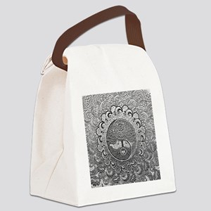 Shiny Metallic Tree of Life Yin Y Canvas Lunch Bag