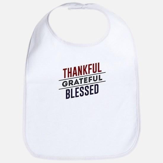 Thankful Grateful Blessed Top Baby Bib