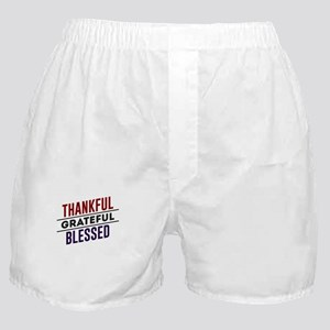 Thankful Grateful Blessed Top Boxer Shorts