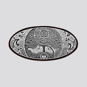 Shiny Metallic Tree of Life Yin Yang Patch