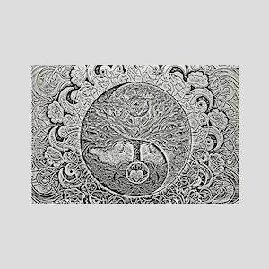 Shiny Metallic Tree of Life Yin Yang s Magnets