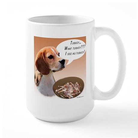 Beagle Turkey Large Mug