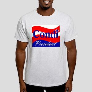 CONDOLEEZZA RICE PRESIDENT 20 Ash Grey T-Shirt