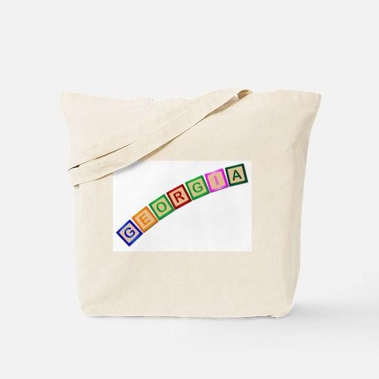 Georgia Wooden Block Letters Tote Bag