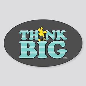 Woodstock-Think Big Sticker (Oval)