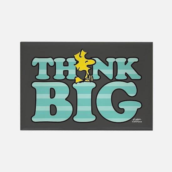 Woodstock-Think Big Rectangle Magnet