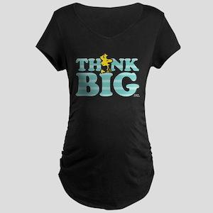 Woodstock-Think Big Maternity Dark T-Shirt