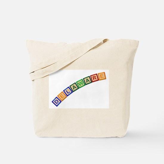 Delaware Wooden Block Letters Tote Bag