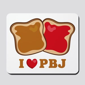 I Love PBJ 2 Mousepad