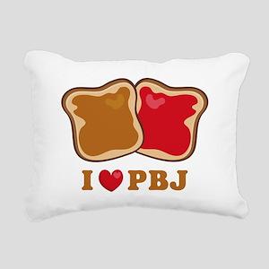 I Love PBJ 2 Rectangular Canvas Pillow
