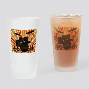 Jazz Drum Kit Drinking Glass