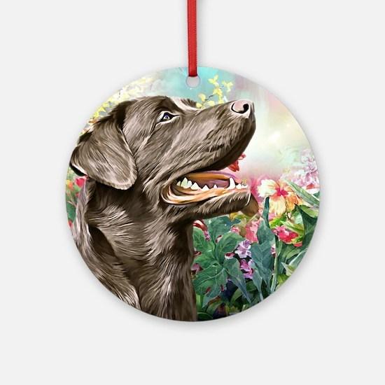 Labrador Painting Round Ornament