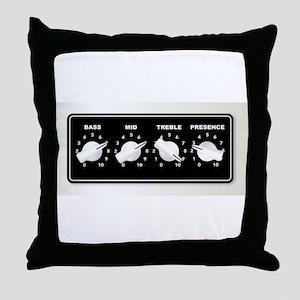 Guitar Ampifier Chicken Head Tone Kno Throw Pillow