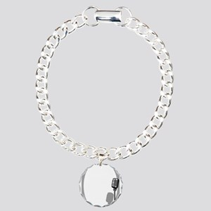 Musical Event Microphone Charm Bracelet, One Charm