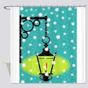 Lamp In the Snow Shower Curtain
