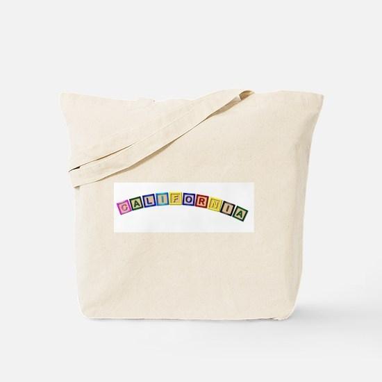 California Wooden Block Letters Tote Bag