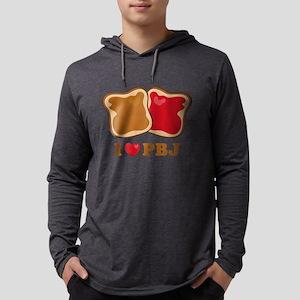 I Love PBJ 2 Mens Hooded Shirt