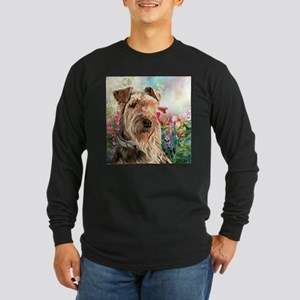 Airedale Painting Long Sleeve T-Shirt