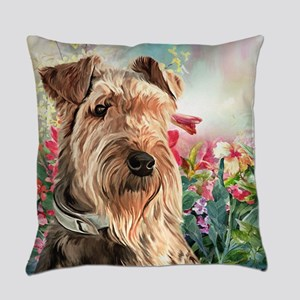 Airedale Painting Everyday Pillow