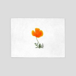 orange poppy 5'x7'Area Rug