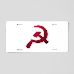 Hammer & Sickle Aluminum License Plate