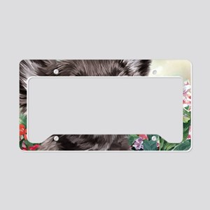 Chihuahua Painting License Plate Holder