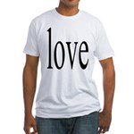 #1. love.. Fitted T-Shirt