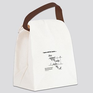 Enjoyment of Reading Canvas Lunch Bag
