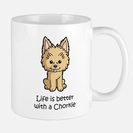 Life Is Better With A Chorkie Mugs