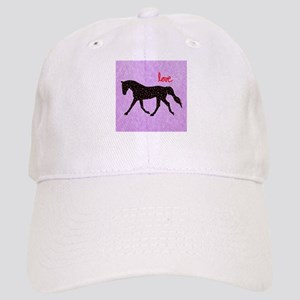 Horse Love and Hearts Cap
