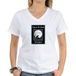 Sing To The Moon Promo White V-Neck T-Shirt