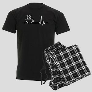 Coffee Heartbeat Men's Dark Pajamas
