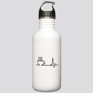Coffee Heartbeat Stainless Water Bottle 1.0L
