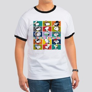 Snoopy-You Can Be Anything Ringer T
