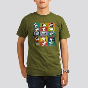 Snoopy-You Can Be Any Organic Men's T-Shirt (dark)