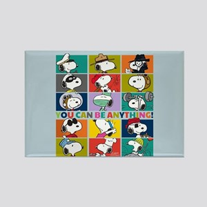 Snoopy-You Can Be Anything Rectangle Magnet